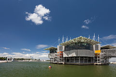 Lisbon Oceanarium. LISBON - June 30: Lisbon Oceanarium on June 30, 2014. Located in the Nations Park in Lisbon, is considered the largest indoor aquarium in stock photography