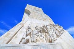 Lisbon odkrycie Pomnikowi Obrazy Royalty Free