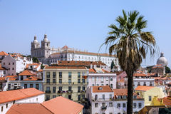 Lisbon old city panorama, Portugal Stock Images