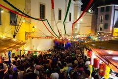 Lisbon Old City Popular Festivities, Travel Portugal, Summer Holiday stock photo