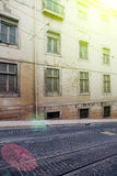 Lisbon old facade, detail of an old street portugal Royalty Free Stock Image