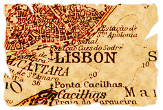 Lisbon old map Stock Image