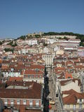 Lisbon old town an castle Royalty Free Stock Photos