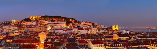 Lisbon Old Town panorama Royalty Free Stock Photography