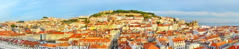 Lisbon Old Town panorama, Portugal Stock Photos