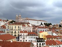 Lisbon old town panorama Stock Photography