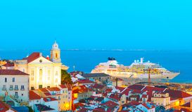 Lisbon Old Town and port, Portugal Stock Photo