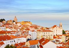 Lisbon Old Town skyline, Portugal Stock Images