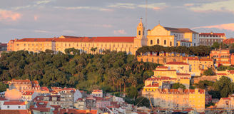 Lisbon old town at sunset Stock Photo