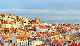 Lisbon Old Town view, Portugal Stock Photos