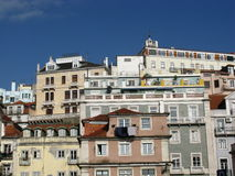Lisbon opposite a blue sky Stock Images