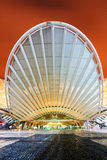 Lisbon Orient station. The beautiful modern entrance to the Orient station at night in Lisbon, Portugal Royalty Free Stock Photography