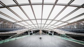 Lisbon Oriente dworca wnętrze zdjęcia royalty free