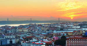 Lisbon overlooking, Portugal Royalty Free Stock Image