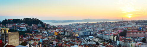 Lisbon overview, Portugal Royalty Free Stock Photos