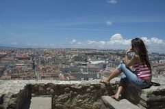 Lisbon panorama Arkivbilder
