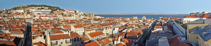Lisbon Panorama Royalty Free Stock Photos