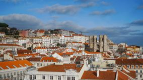 Lisbon Panorama. Aerial view. Lisbon is the capital and the largest city of Portugal. Lisbon is continental Europe`s westernmost Royalty Free Stock Image