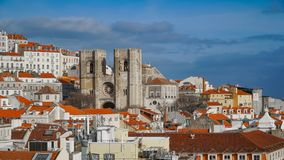 Lisbon Panorama. Aerial view. Lisbon is the capital and the largest city of Portugal. Lisbon is continental Europe`s westernmost Stock Images