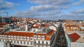 Lisbon Panorama. Aerial view. Lisbon is the capital and the largest city of Portugal. Lisbon is continental Europe`s Royalty Free Stock Photography