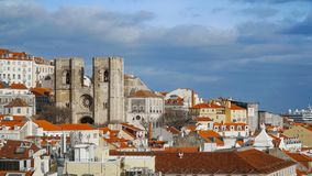 Lisbon Panorama. Aerial view. Lisbon is the capital and the largest city of Portugal. Lisbon is continental Europe`s westernmost Royalty Free Stock Photography
