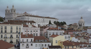 Lisbon. Panorama of the colorful city of Lisbon in Portugal Stock Photos