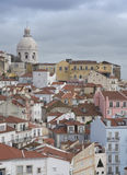 Lisbon. Panorama of the colorful city of Lisbon in Portugal Royalty Free Stock Image