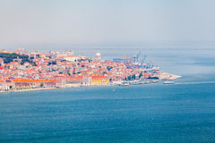 Lisbon panorama from the National Sanctuary of Christ the King Royalty Free Stock Images