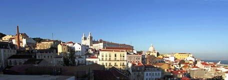 lisbon panorama portugal Royaltyfri Fotografi