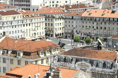 Lisbon panorama. Panorama of Lisbon with the square Stock Photos