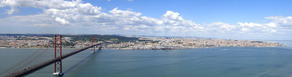 Lisbon panorama. From Tejo River Stock Images