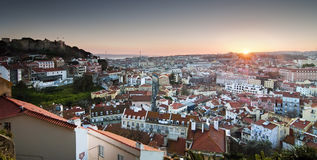 Lisbon panoramic Royalty Free Stock Photos