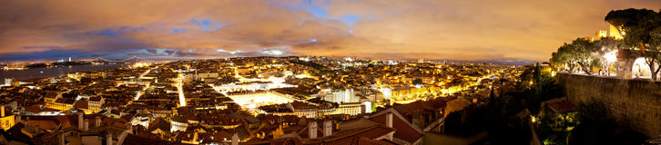 Lisbon panoramic Royalty Free Stock Photo