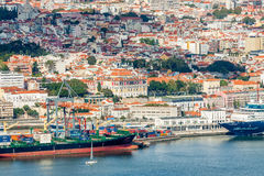 Lisbon Panoramic View. From Almada, Portugal Stock Images