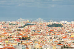 Lisbon Panoramic View Royalty Free Stock Photo