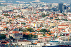 Lisbon Panoramic View. From Almada, Portugal Royalty Free Stock Photography