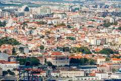 Lisbon Panoramic View. From Almada, Portugal Royalty Free Stock Images