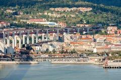 Lisbon Panoramic View. From Almada, Portugal Stock Photos