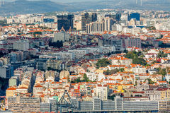 Lisbon Panoramic View. From Almada, Portugal Royalty Free Stock Photo
