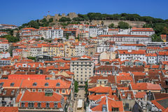Lisbon Panoramic View. From Downtown, Portugal Royalty Free Stock Photos