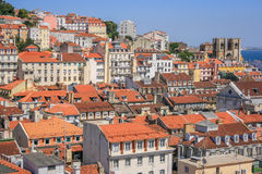 Lisbon Panoramic View. From Downtown, Portugal Stock Images