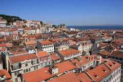 Lisbon Panoramic View. From Downtown, Portugal Royalty Free Stock Photography
