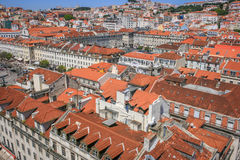 Lisbon Panoramic View. From Downtown, Portugal Royalty Free Stock Photo