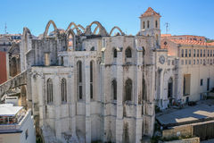 Lisbon Panoramic View. From Downtown, Portugal Royalty Free Stock Image