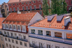 Lisbon Panoramic View. From Downtown, Portugal Stock Photo