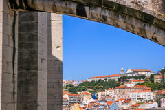 Lisbon Panoramic View. From Downtown, Portugal Stock Image