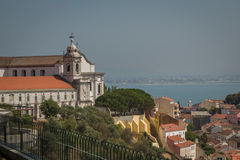 Lisbon Panoramic View. From Miradouro, Portugal Royalty Free Stock Photos