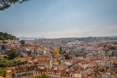 Lisbon Panoramic View. From Miradouro, Portugal Stock Photo