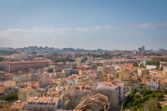 Lisbon Panoramic View. From Miradouro, Portugal Royalty Free Stock Photography