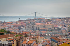 Lisbon Panoramic View. From Miradouro, Portugal Stock Image